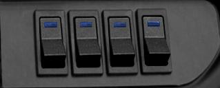 black matte blue micro
