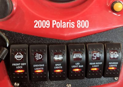 Polaris 800 with 6 switch red custom